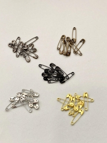 SAFETY PINS in MIXED COLORS
